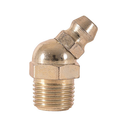 """Picture of 1/8"""" Pipe Thread Grease Fitting - 45 Degree Angle - PACK OF 100"""