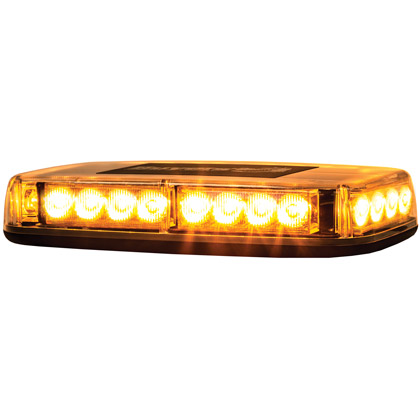 Picture of 12V DC, 2 Amp 24 LED Amber Minilight Bar - Magnetic Mount