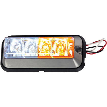 "Picture of 4-7/8"" 2-Amber, 2-Clear LED Rectangular Strobe Light"