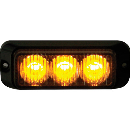 "Picture of 3-7/8"" 3 LED Amber Surface Mount Mini Strobe Light"