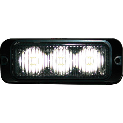 "Picture of 3-7/8"" 3 LED Clear Surface Mount Mini Strobe Light"