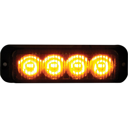"Picture of 4-3/4"" 4 LED Amber Surface Mount Mini Strobe Light"