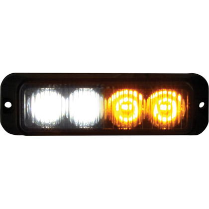 "Picture of 4-3/4"" 2-Amber, 2-Clear LED Surface Mount Mini Strobe Light"