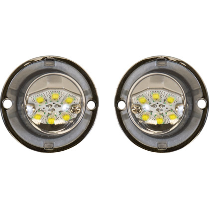 "Picture of Dual Clear LED ""Hidden"" Bolt-on Strobe Light Set - 15 ft. Cable"