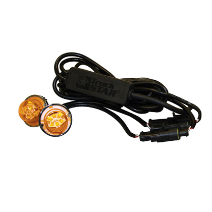 "Picture of Dual Amber LED ""Hidden"" Bolt-on Strobe Light Set - 25 ft. Cable"