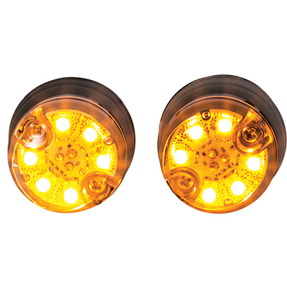 "Picture of Dual Amber LED ""Hidden"" Push-On Strobe Light - 25 ft. Cable"
