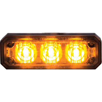 "Picture of 2-1/2"" 3 LED Amber Rectangular Multi-Mount Mini Strobe Light"