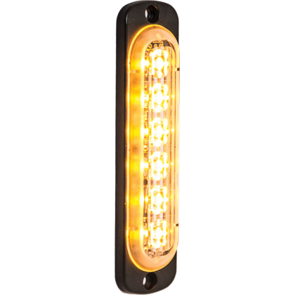 "Picture of 4.375"" 6 LED Amber Aluminum Thin Mount Vertical Strobe Light"