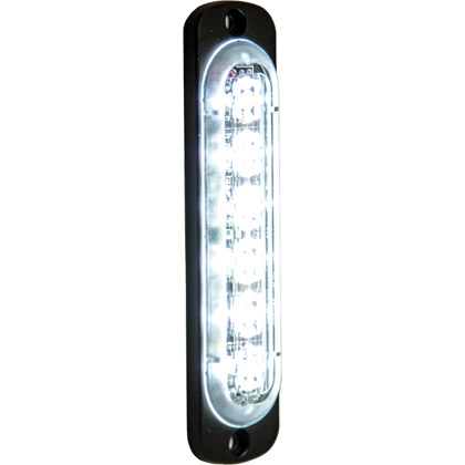"""Picture of 4.375"""" 6 LED Clear Aluminum Thin Mount Vertical Strobe Light"""