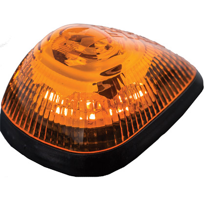 Picture of Set of 5 - 9 LED Amber Strobe Marker Lights with Amber Lens for Ford Trucks