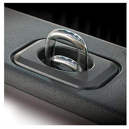 Picture of Truck Bull Ring Black Retractable Tie-Down with Stainless Steel Eye (Pair) for Toyota Tundra