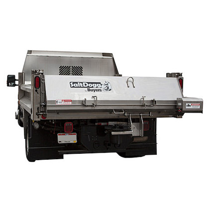"""Picture of Buyers SaltDogg 96"""" Hydraulic Drive Carbon Steel Under Tailgate Spreader with 5:1 Reduction Ration Gearbox and Hydraulic Safety Lockout System"""