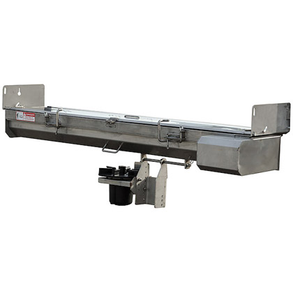"Picture of Buyers SaltDogg 96"" 12V Electric Drive 304 Stainless Steel Under Tailgate Spreader (Center Discharge)"