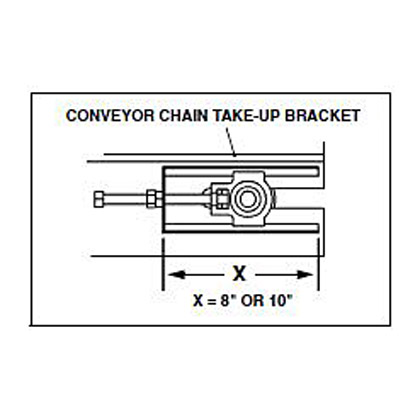 """Picture of 8' 15"""" Wide Conveyor Chain - 119 Links"""