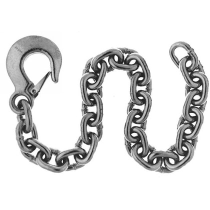 "Picture of Safety Chain with Forged Slip Hook - 3/8"" x 2"""