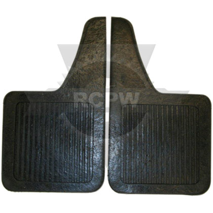 "Picture of 1/4"" Regular-Duty Rubber Mudflaps - 10"" W x 18"" H - Teardrop Style - Pair"