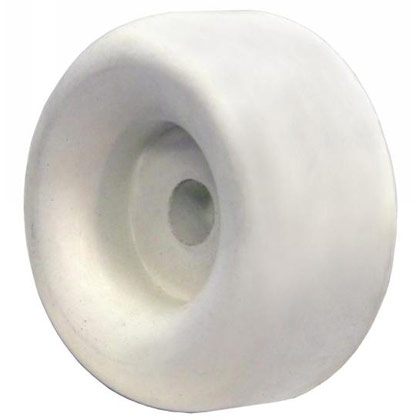 Buyers B1025 2 1 2 Quot Round Rubber Bumper White 1 98