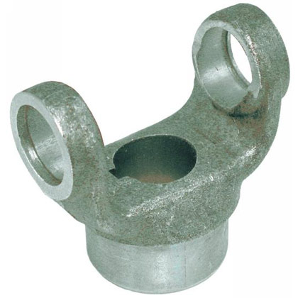 "Picture of B1310 Series End Yoke - 1-1/8"" Round - 1/4"" KW"