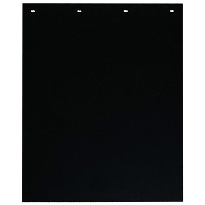 "Picture of Black Polymer Spray Reducing Mudflaps - 24"" W x 24"" H - Pair"