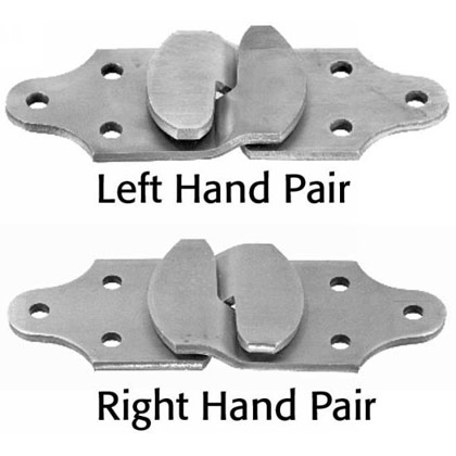 Picture of Straight Stake Rack Connector Set - One Left Hand Pair and One Right Hand Pair