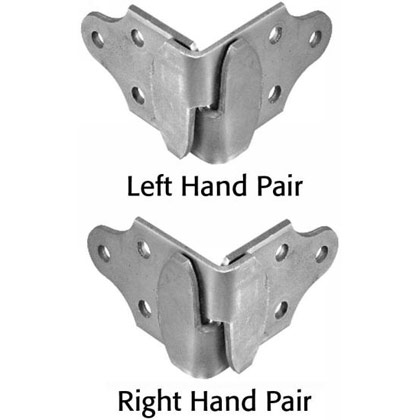 Picture of Corner Stake Rack Connector Set - One Left Hand Pair and One Right Hand Pair