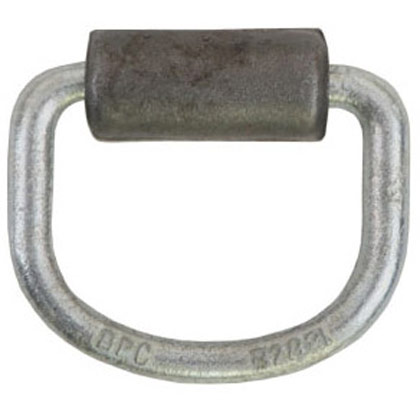 Picture of Zinc Plated Heavy-Duty Rope Ring with Forged Weld-On Bracket