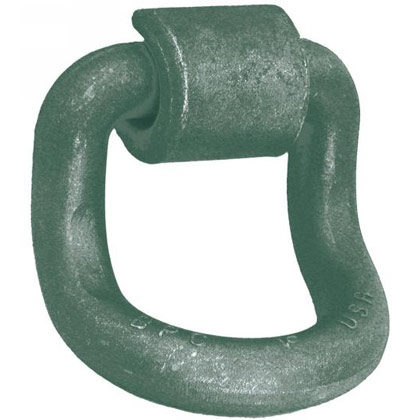 "Picture of 1"" Forged Lashing D-Ring (55 Degree) with Mounting Bracket - 3-1/2"" x 3"""