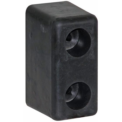 "Picture of Molded Rubber Bumper - 3"" x 3-1/2"" x 6"" - Pair"