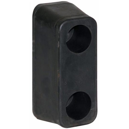 "Picture of Molded Rubber Bumper - 2-9/16"" x 3"" x 6"""