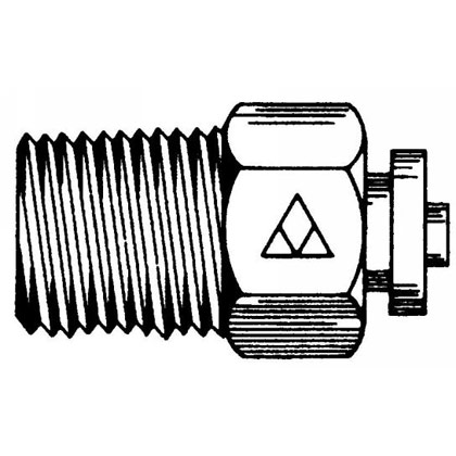 "Picture of DOT Male Connector - 3/8"" x 1/4"" Pipe Thread"