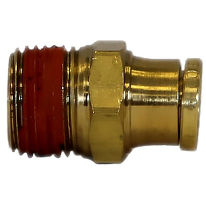 "Picture of DOT Male Connector - 3/8"" x 3/8"" Pipe Thread"