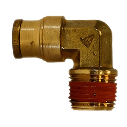 "Picture of DOT Male Elbow - 3/8"" x 1/4"" Pipe Thread"