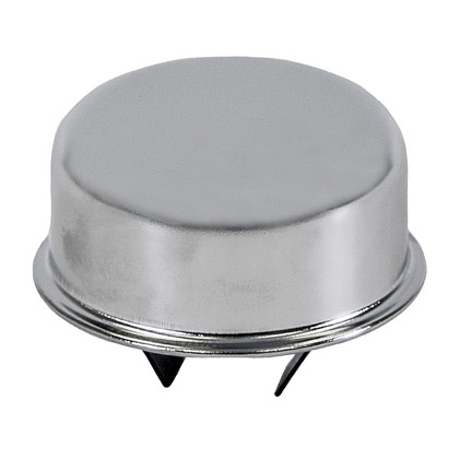 """Picture of Chrome Push-In Type Breather Cap for 1-1/2"""" OD Tube"""