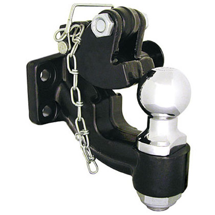 """Picture of 10-Ton Combination Hitch with 2-5/16"""" Chrome Ball"""