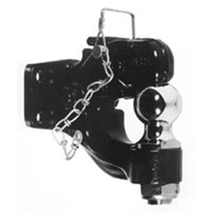"Picture of 8-Ton Combination Hitch with 1-7/8"" Chrome Ball"