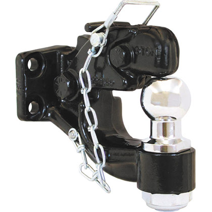 "Picture of 8-Ton Combination Hitch with 2"" Chrome Ball"