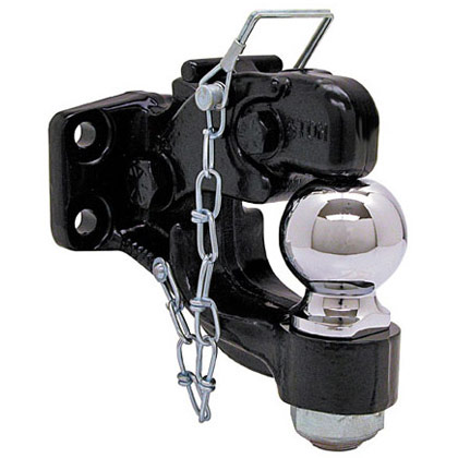 "Picture of 8-Ton Combination Hitch with 2-5/16"" Chrome Ball"