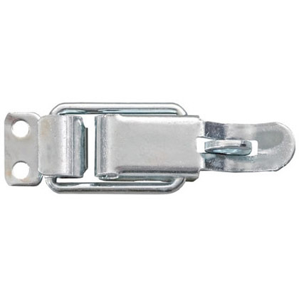 Picture of Zinc Plated Steel Padlock Eye Pull-Down Catch with Striker