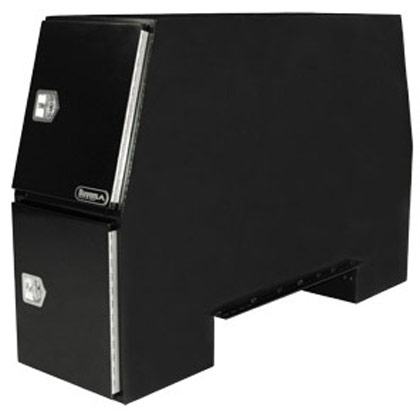 "Picture of 55"" x 24"" x 85"" Black Steel B-Pack Toolbox - Offset Floor (9.10"")"