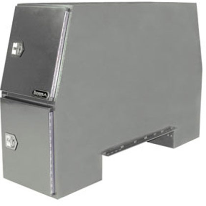 "Picture of 55"" x 24"" x 85"" Primered Steel B-Pack Toolbox - Offset Floor (9.10"")"