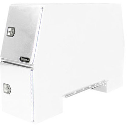 "Picture of 55"" x 24"" x 85"" White Steel B-Pack Toolbox - Offset Floor (9.10"")"