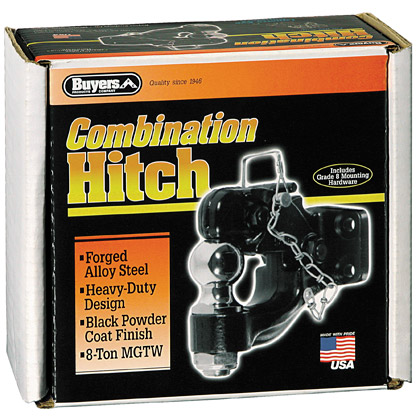 "Picture of 8-Ton Combination Hitch with 1-7/8"" Chrome Ball and Mounting Kit - PACK OF 5"