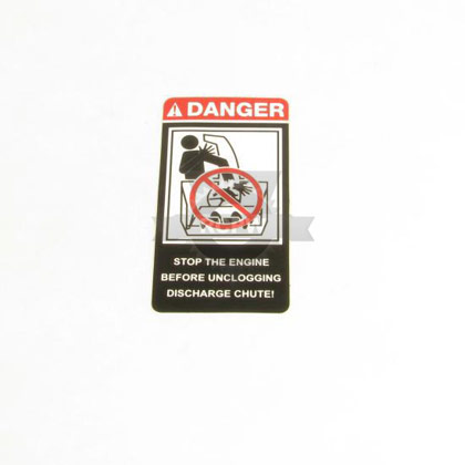 Picture of DEC-DANGER CHUTE ENG
