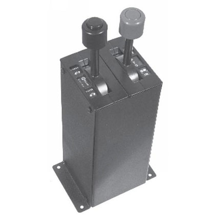 Picture of Black Powder Coated Steel Console for all B-Series Dual Lever Controls