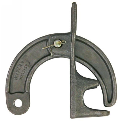 "Picture of 2-1/2"" Wide Lower Hinge Assembly - 21/32"" Pin Hole - for 1-1/4"" Diameter Post - Forged"