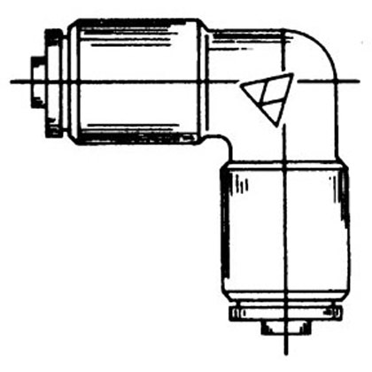 Picture of DOT Union Elbow - 1/4""
