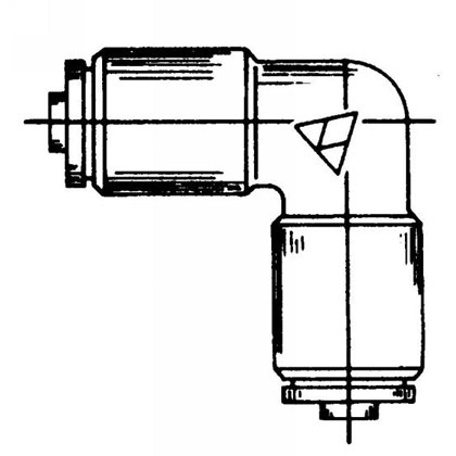 """Picture of DOT Union Elbow - 3/8"""""""