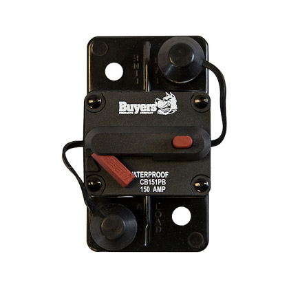 Picture of 150 Amp Manual Reset, Push-to-Trip Large Frame Circuit Breaker