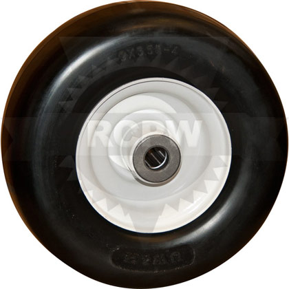 """Picture of 9x3.50-4 Flat Free Tire with 4"""" Centered Hub"""