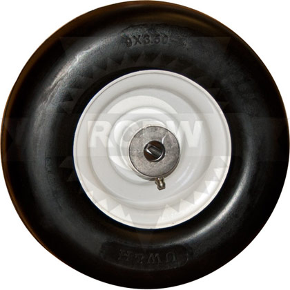 "Picture of 9x3.50-4 Flat Free Tire with 4.5"" Centered Hub"
